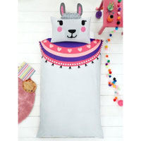 Creative Novelty Shaped Duvet Reversible - Llama