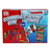 2 In 1 Domino Run & Stacking Tower Game
