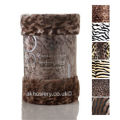 Mink Faux Fur Throw Jungle Print