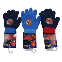 Official Boys Spiderman Knitted Gloves