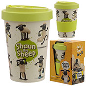Shaun The Sheep Reusable Screw Top Bamboo Travel Cup