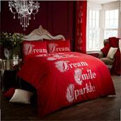 Modern Style Duvet Cover Set Red