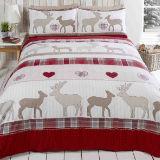 Brushed Cotton Duvet Set St Andrews Red