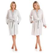 Ladies Floral Stripes Dressing Gown