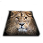 Lion Faux Mink Fur Throw
