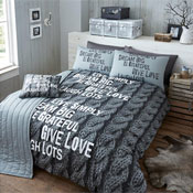 Bed in a Bag Set Knitted Print Grey