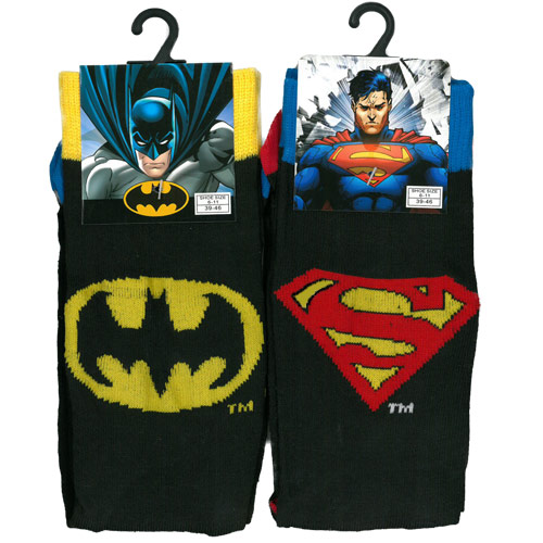 DC Comics Batman and Superman Mens Socks CARTON PRICE