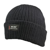 Adult Black Hat with Thermal Lining