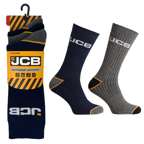 JCB 3 Pack Mens Outdoor Activity Sock 9-12 Assorted