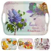 "16"" Assorted Design Melamine Serving Tray"