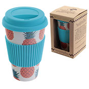 Bamboo Pineapple Design Eco-Friendly Travel Mug