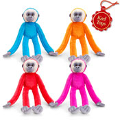 Colourful Hanging Monkey 4 Assorted