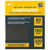 Wet And Dry Assorted Sandpaper 10 Pack