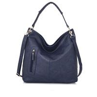 Nattie Side Zip Slouch Bag Navy Blue