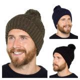 Mens Knitted Pom Pom Hat