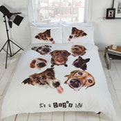 It's a Dogs Life Duvet Set Panel