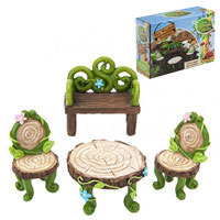 Secret Fairy Garden Woodland 4 Piece Furniture Set