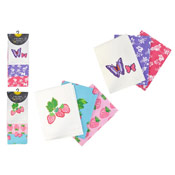 Extra Large Tea Towels 3 Pack With Fruit and Butterfly Design