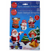 Make Your Own & Paint Christmas Decoration Magnets