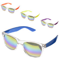 Adult Clear Frame Sunglasses With Iridescent Effect