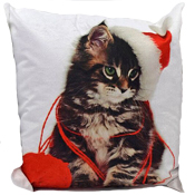 Kitten Christmas Cushion Cover