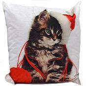 Kitten Christmas Cushion Cover