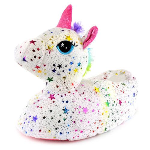 Ladies Star Unicorn Slippers