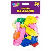 Round Party Balloons 20 Pack