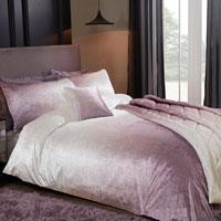 Luxury Ombre Velvet Duvet Set Pink