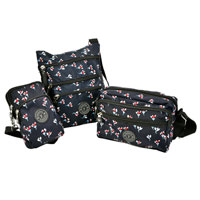 Navy Flower Shoulder Bag