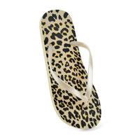 Ladies Leopard Print Flip Flop