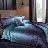 Luxury Ombre Velvet Duvet Set Teal