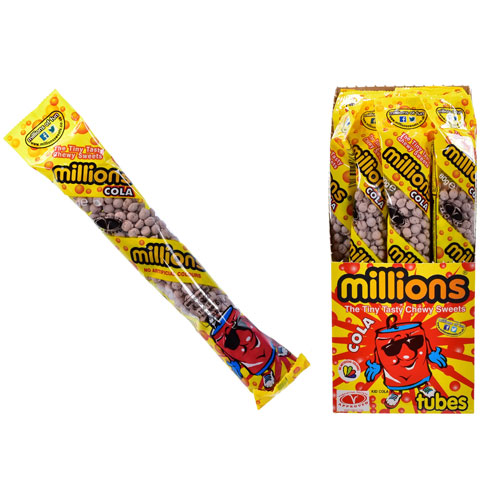 Cola Millions Sweets 60g Tubes