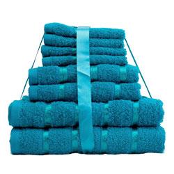 8 Piece Towel Bale Teal Egyptian Cotton