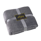 Luxury Throw Wave Charcoal