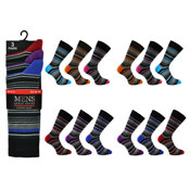 Mens Wide Stripe Socks Kry Collection CARTON PRICE
