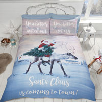 Christmas Duvet Set Santa Claus is Coming To Town