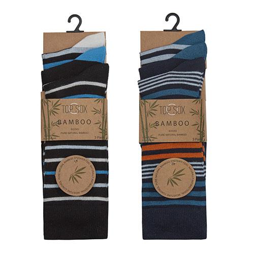 Mens Bamboo Striped Socks