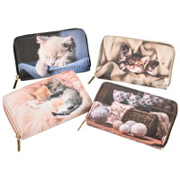 Long Purse Assorted Cats