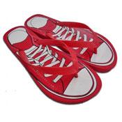 Sneaker Print Flip Flops