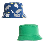 Boys Reversible Animal Print Bush Hat