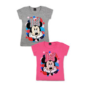 Official Minnie Mouse Short Sleeve Printed T-Shirt