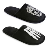 Mens Skeleton/Skull Mule Slipper