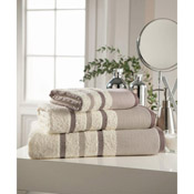 Egyptian Cotton Bath Towel Cream Stripe