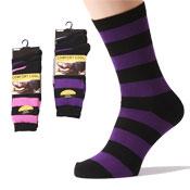 Mens Socks Wide Stripe