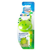 Kids Frog Design Toothbrush With Cover