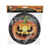 Haunted House Halloween Pumpkin Party Plates