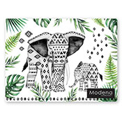 Modena Elephant 4 Pack Placemats