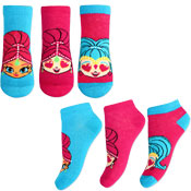Girls Shimmer & Shine Character Trainer Socks