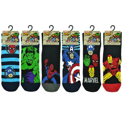 Mens Marvel Comics Socks Carton Price
